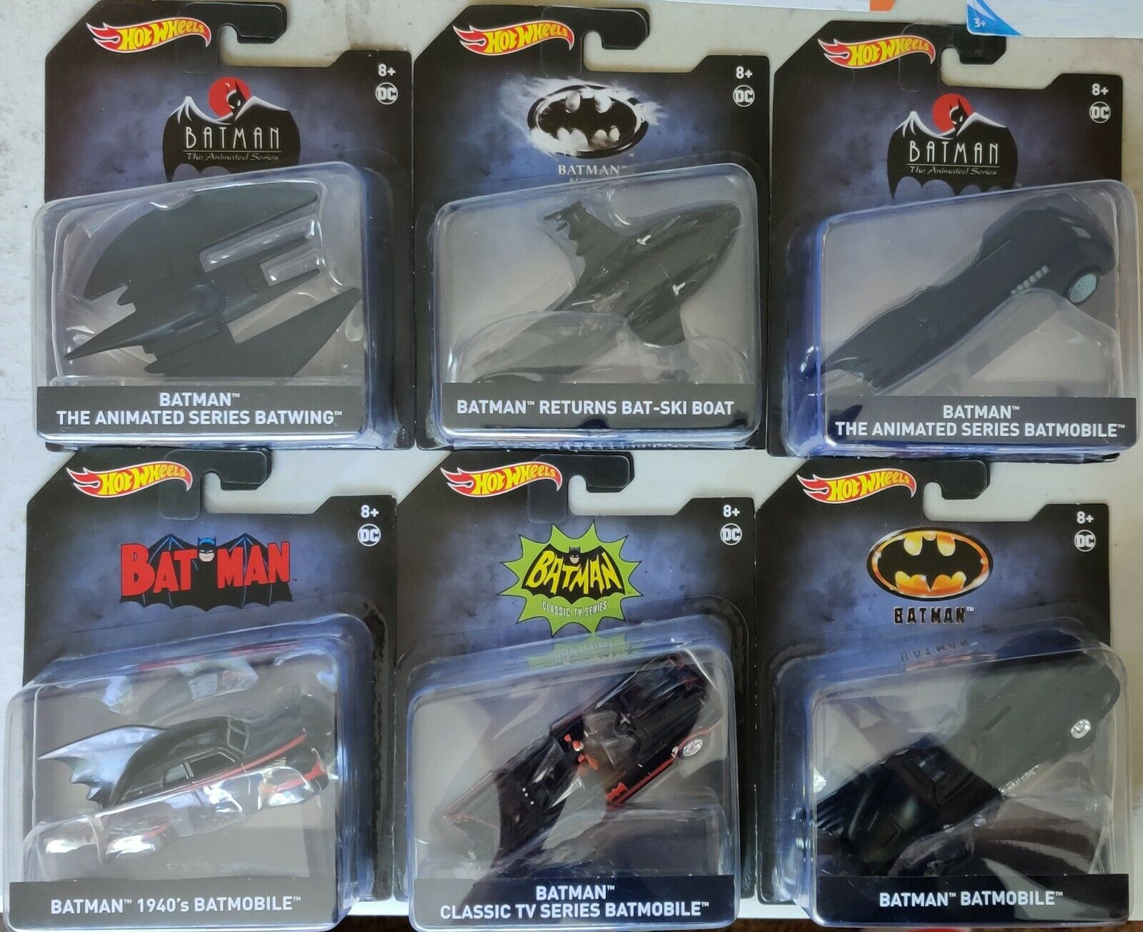 2020 HOT WHEELS COMPLETE SET OF 6 BATMAN VEHICLES